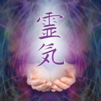 Reiki symbol with hands